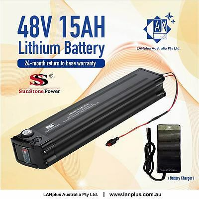 New 48V 15AH Lithium Battery w/ Charger eBike Electric Bicycle Scooter Mobility