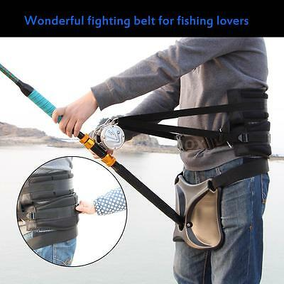 Big Fish Sea Fishing Adjustable Belt Waist Rod Holder&Fishing Harness J1Q4