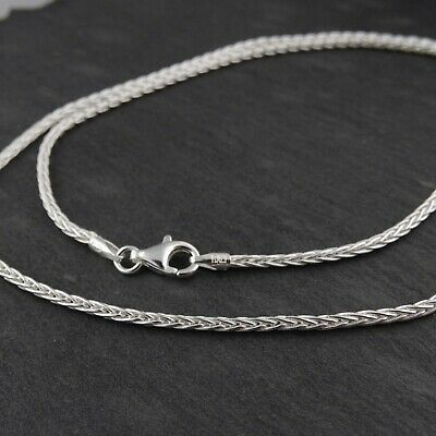 """Sterling Silver 1.8mm SPIGA Wheat Chain Necklace - 045 Italy 16""""-30"""" NEW 925"""