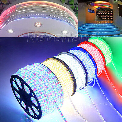 5-100M Ultra Bright 5050 SMD LED Home Garden Strip Rope Xmas Light Waterproof