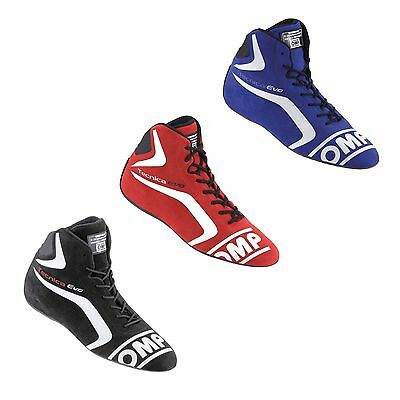 OMP Tecnica Evo FIA Approved Racing / Race / Rally Suede Boots / Shoes - IC803E