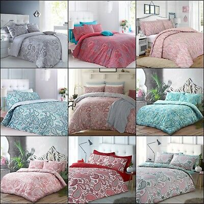 Paisley Duvet Cover Bedding Quilt Set And Pillowcases Single Double King Modern