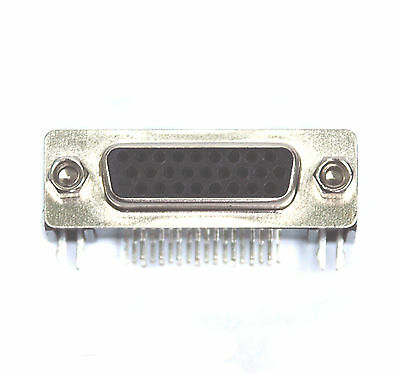 5pc D-Sub Dip 90° Right Angle High density Female Connector 3 rows 26P RoHS