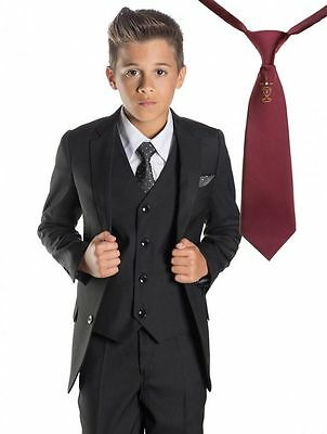 New Style Kids Formal Groom Tuxedos Flower Children Boys Wedding Suits Bespoke