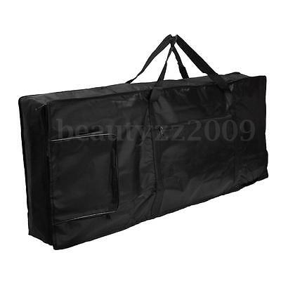 Portable Thick Padded Electric Piano Keyboard Bag 61 Key Double Shoulder Straps
