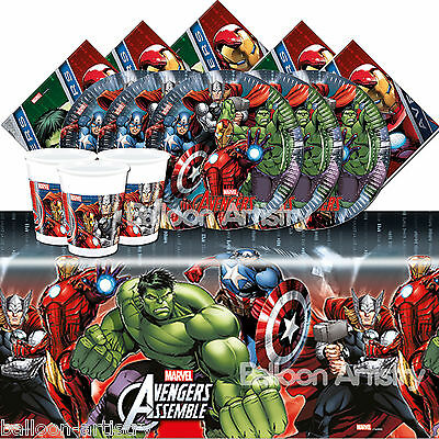 Marvel AVENGERS POWER Children's Birthday Party Tableware Pack Kit for 16 Guests
