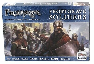 Frostgrave FGVP01 Soldiers (20) Miniatures Warriors Archers Warband Infantry NIB