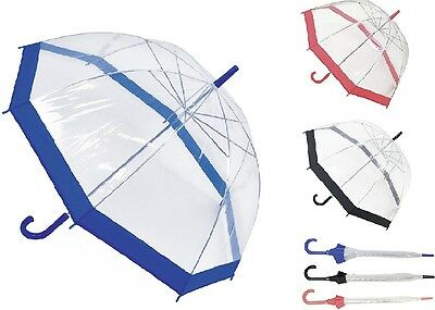 Drizzles Ladies Dome Umbrella Clear Walking Umbrella Fast Postage