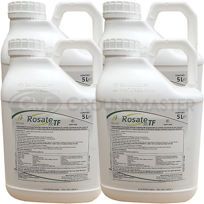 Rosate 360 TF 4 x 5 Litre Strong Glyphosate Professional Garden Weedkiller