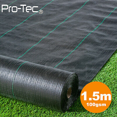1.5m wide 100gsm weed control fabric ground membrane landscape mulch garden