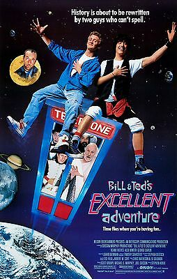 """Bill & Teds Excellent Adventure"" ....Classic Comedy Movie Poster A1A2A3A4Sizes"