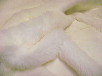 LUXURY Faux Fur Fabric Material SNOW WHITE