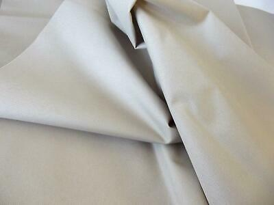 Soft PU Coated Water-Resistant Polyester Fabric Material - BEIGE