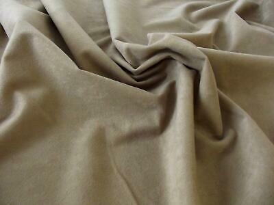 Faux Suede Suedette 100% Polyester Fabric Materia 170g - BEIGE