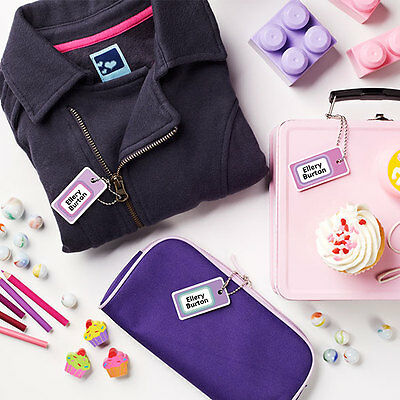 Personalized Mini Scuff-proof Name Bag Tags for Kids