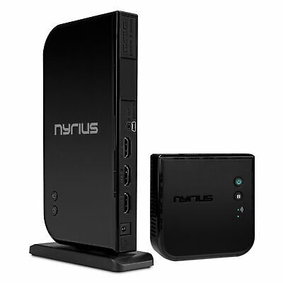 Nyrius Wireless HDMI 2 Input Transmitter & Receiver; Streaming HD 1080p 3D Video