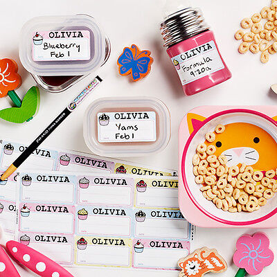 Personalized Durable Waterproof Date Name Labels for Kids