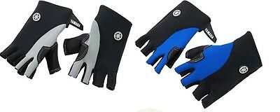 YAMAHA Neoprene 3/4-Finger PWC Gloves Gray Black BlueFZR FX-HO VX VXR SHO GPR