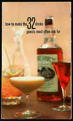 Vintage 1958 Southern Comfort pamphlet brochure advertising: How to mix drinks