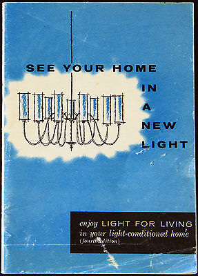 Vintage 1950s? Collectible Home Lighting brochure booklet, light your house