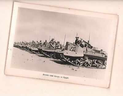 vintage photo Postcard military British Tank Troops in Egypt