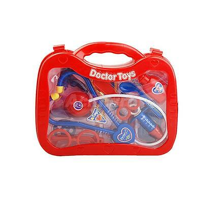 Kids Doctor Medical Play Set Pretend Carry Case Kit Role Play Toys Red