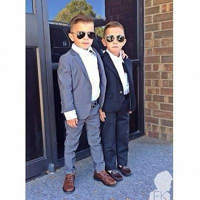 Hot Sale Children  Boys Kids Formal Groom Tuxedos  2 piece Party Suits Bespoke