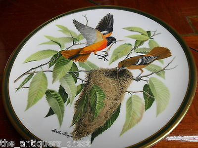 """""""SONGBIRDS OF THE WORLD"""" FRANKLIN PORCELAIN/Wedgwood plate """"BALTIMORE ORIOLE""""[*"""