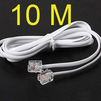 High Speed 10m 32ft RJ11 Telephone Phone ADSL Modem Line Cord Cable