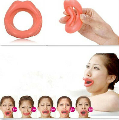 Face Slimmer Anti-Wrinkle Anti-Aging Muscle Oral Exercise Lip Trainer Silicon-LD