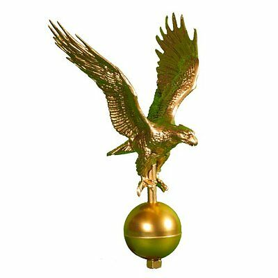 Flagpole Hardware Gold Eagle Aluminum Topper 12 Inch Outdoor Decorations Flag