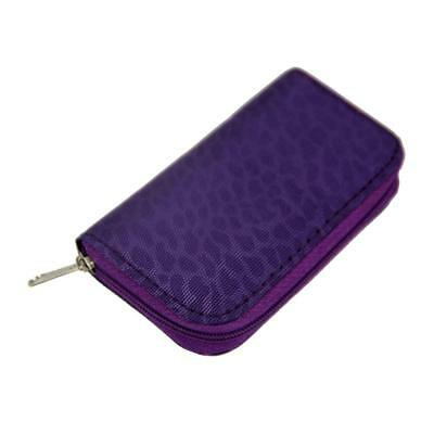 Purple 22 Slots SD/CF Micro Memory Card Pouch Case Holder Wallet Waterproof