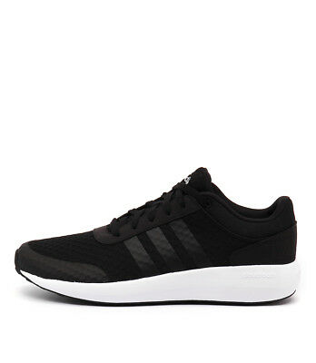 New Adidas Neo Cloudfoam Race Men's Black Black White Mens Shoes Casual