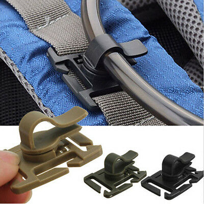 Drinking Tube Rotatable Hydration Bladder Straw Tube Clip for Water Pack Bag US