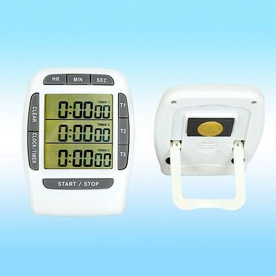 Digital LCD Multi-Channel Laboratory Timer 3 Channel 99 Hour Clock Accurate
