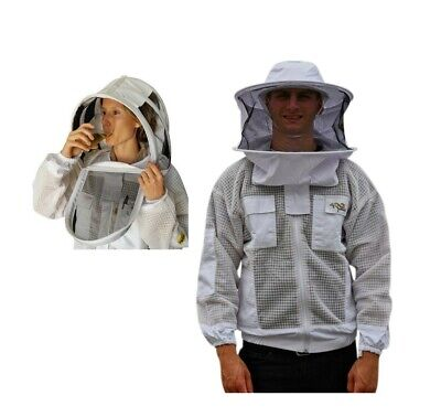 "Beekeeping Jacket ""oz Armour"" Ventilated Three Layer Mesh Ultra Cool Breeze"