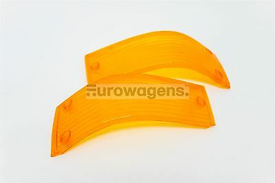 BMW 5 Series E28 81-88 Orange Front Indicator Repeater Lenses Pair Set N/S O/S