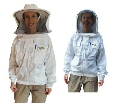 """Beekeeping Jacket """"Oz Armour"""" Heavy Duty Poly Cotton"""