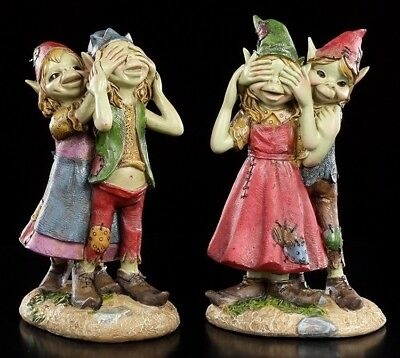 Pixie Figuren - Liebespaar 2er Set - Anthony Fisher Paar Liebe Kobold Gnom