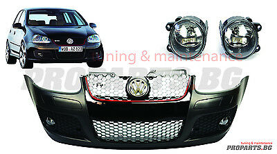 VW Golf Gti V MK5 Front Bumper Volkwagen GTI 5 LOOK WITH FOGS AND GTI GRILL