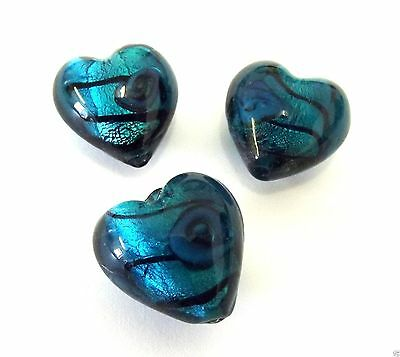 Impex Trimits Deluxe - Heart Rose Lamp Beads - Turquoise