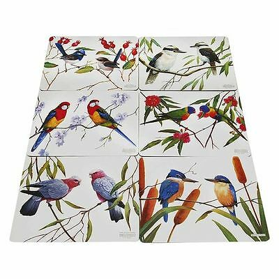 NEW Maxwell & Williams Birds of Australia Eric Shepherd Placemat (Set of 6)