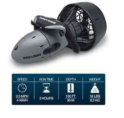 SeaDoo GTI SeaScooter Scooter Electric Waterproof Gray 2.5MPH NEW SD5540