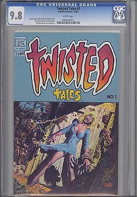 Twisted Tales #1 CGC 9.8 1982  PC Horror Comic with Alien Worlds 1 on back Cover