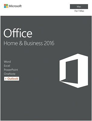 NEW Microsoft W6F-00921 Office Mac Home & Business 2016