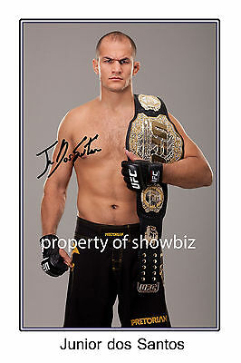 * Junior Dos Santos, Large Signed Autograph Poster, Looks Great On The Wall!!!!!