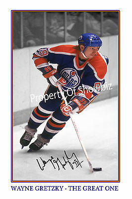 Wayne Gretzky Large Signed Autograph Photo Print - Great As A Gift Or Keepsake