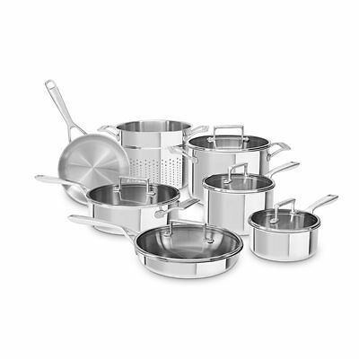 KitchenAid KC2TS12ST 12-Piece Cookware Set - Stainless Steel