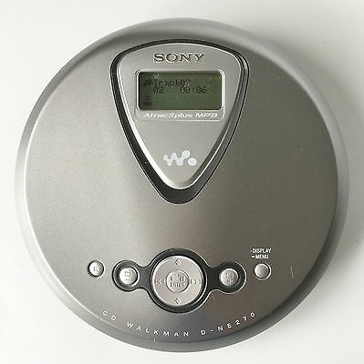 Sony D-NE270 Portable CD Player G-Protection CD-R/RW Playback Tested Works!