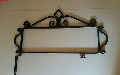 Vtg Ornate Retro pre-60's Mountable wrought iron and steel address or name Frame